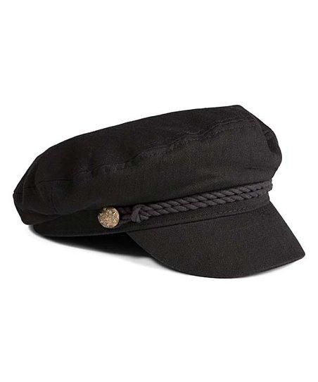 Fashionomics Black Rope-Accent Cadet Hat | Zulily
