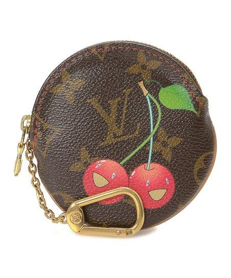 cec20a82b48 Louis Vuitton Pre-Owned Brown Monogram Cherry Round Canvas Coin Purse