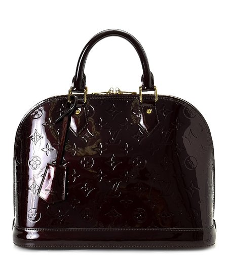 80808cc75a love this product Pre-Owned Griotte Monogram Vernis Alma PM Patent Leather  Handbag