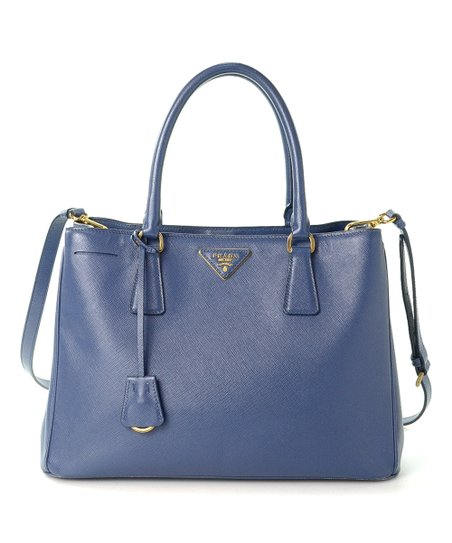 3a424b817e love this product Pre-Owned Blue Saffiano Lux Two Way Leather Tote