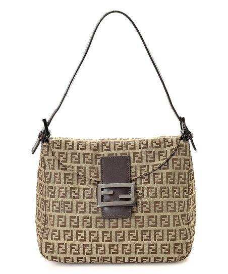 83c5267379 love this product Pre-Owned Brown Zucchino Canvas Shoulder Bag