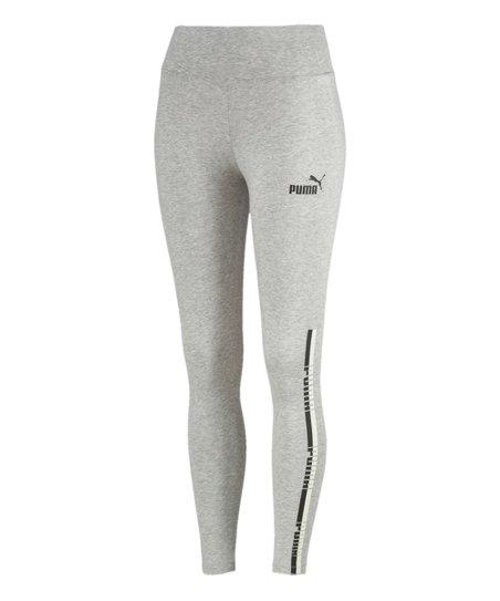 c0f59b6944ec61 PUMA Light Gray Heather Tape High-Waist Leggings - Women | Zulily