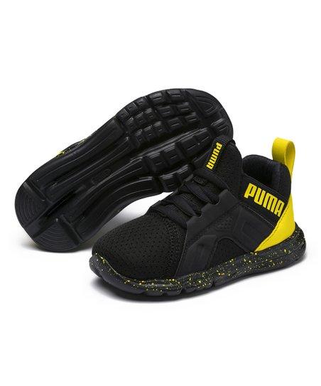 PUMA Puma Black & Blazing Yellow Enzo Tech AC Sneaker - Boys