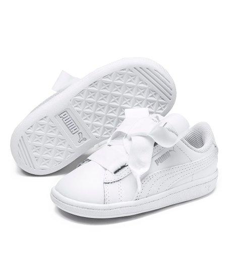 love this product Puma White Vikky Ribbon L Satin AC Sneaker - Girls 1debdba06
