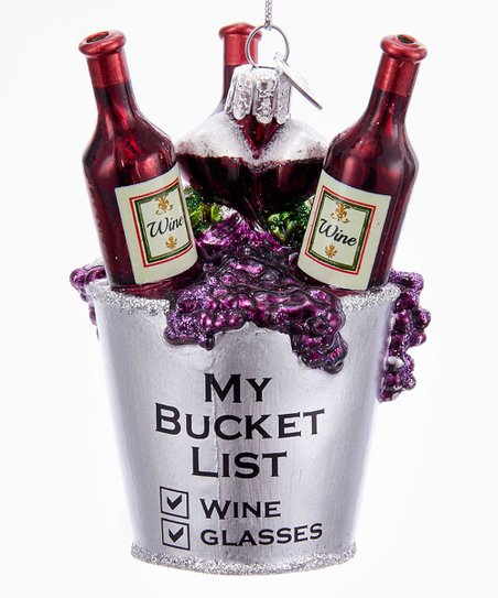 Noble Gems™ Wine Bucket List Ornament