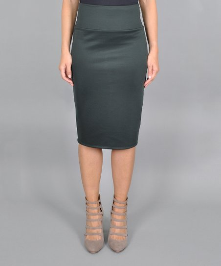 0e46f7af4 love this product Hunter Green Tummy-Tuck Pencil Skirt - Women & Plus