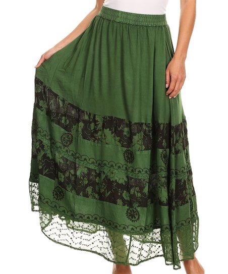 d4c144cc64b8 love this product Sage Green Floral Tie-Waist Maxi Skirt - Women & Plus