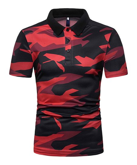 separation shoes def31 3ec44 love this product Red   Black Camo Polo - Men