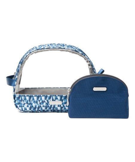 Baggallini Blue Prism Cosmetic Bag Set