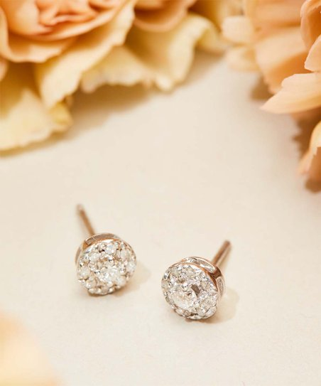 d37ae2e0f love this product 0.25-carat Diamond & Sterling Silver Halo Stud Earrings
