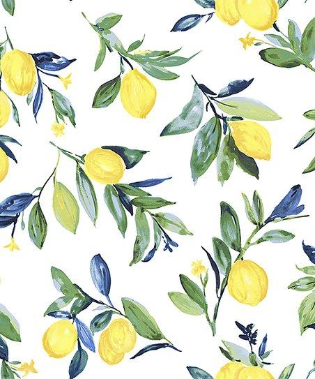 Wallpops White Yellow Lemon Drop Peel Stick Wallpaper Zulily