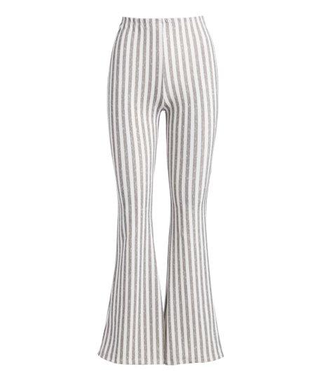 good out x dependable performance 2019 discount sale Casa Lee Heather Gray Stripe Flare Pants - Women