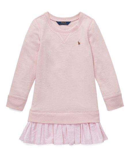 7ba9334ecc Polo Ralph Lauren Hint of Pink Drop-Waist Sweater Dress - Girls
