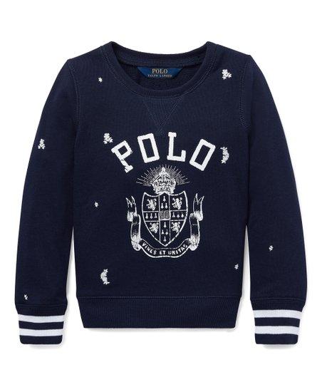 e7fa68705 Polo Ralph Lauren Black Logo Atlantic Terry Sweatshirt - Girls