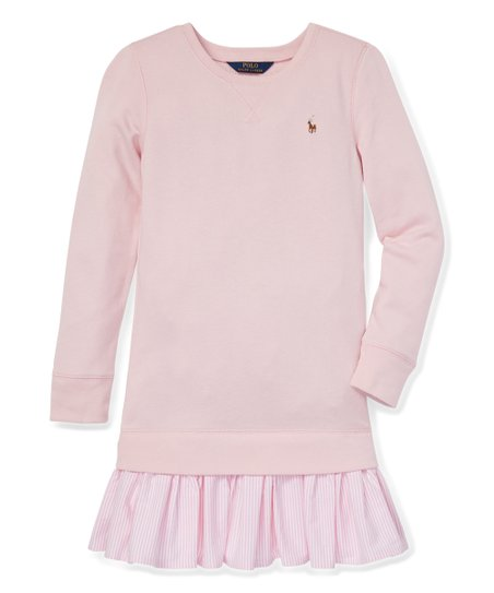 5c9e5554e Polo Ralph Lauren Hint of Pink Atlantic Terry Drop-Waist Sweater ...