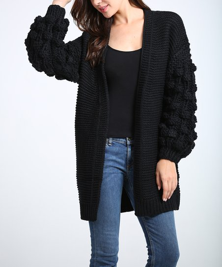Black Open Cardigan   Women & Plus by Simply Couture