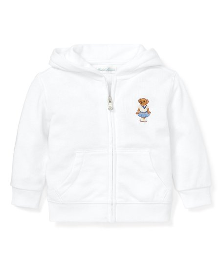 polo ralph lauren white bear embroidered zip up hoodie infant best price and reviews zulily polo ralph lauren white bear embroidered zip up hoodie infant