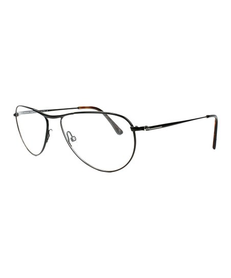 Tom Ford Shiny Black Round Eyeglasses - Men