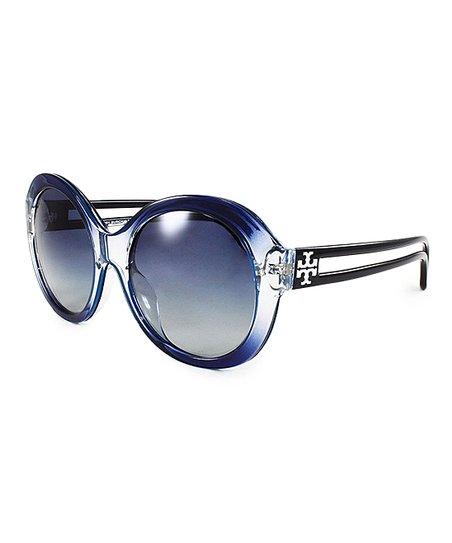 b568d00ba30c Tory Burch Light Gray & Dark Blue Gradient Oversize Sunglasses | Zulily