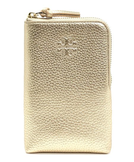 the best attitude e1d17 24812 Tory Burch Gold Charlie Crossbody Leather Cell Phone Case