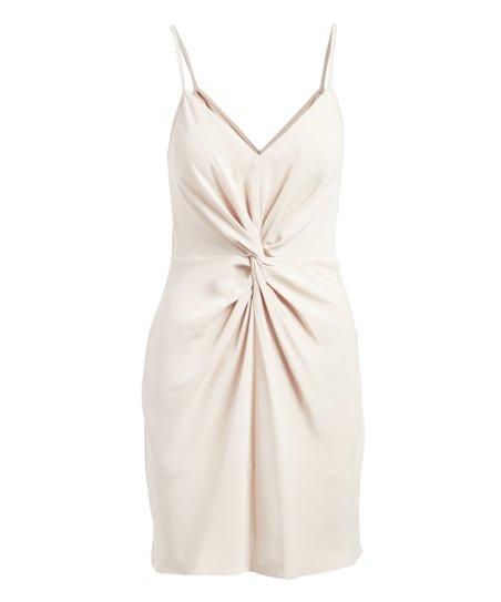 8b0e7605fd0888 Amanda Uprichard Brulee Front-Twist Ellie Slip V-Neck Dress - Women ...