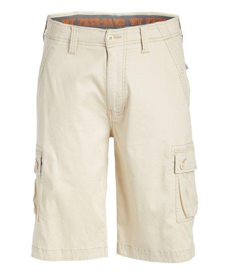 126e6de8a7 Wear First Oyster Free-Band Stretch Cargo Short - Men   Zulily