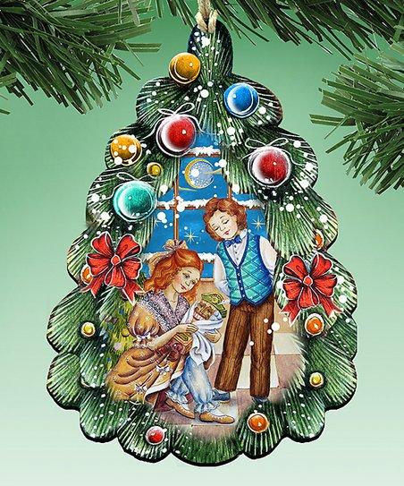 G Debrekht Green Nutcracker Christmas Tree Ornament