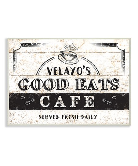 6cb0eace35cc58 love this product White & Black 'Good Eats Café' Personalized Wall Plaque