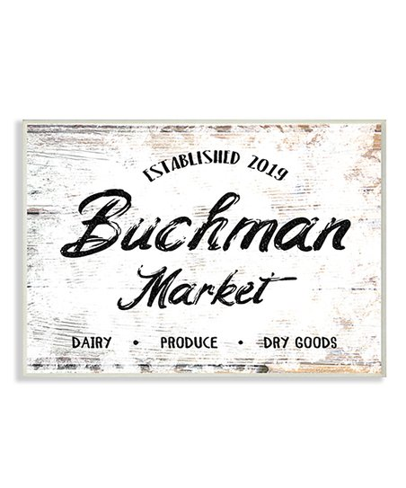0b6a7d517b1d40 Stupell Industries White & Black Market Personalized Wall Art | Zulily