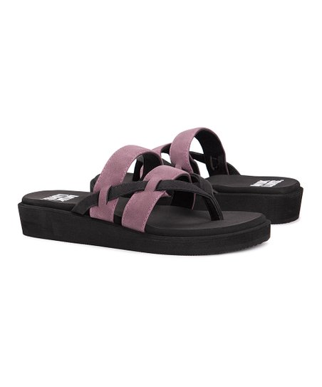 6733d3792 love this product Black   Plum Double-Band Finley Flip-Flop - Women