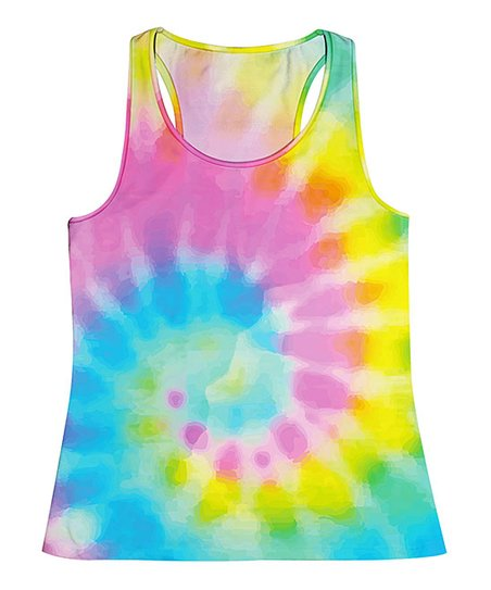223956626e1a7 Monday's Child Pink & Green Tie-Dye Tank - Toddler & Girls