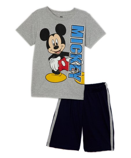 cea062535a Childrens Apparel Network Disney Gray Mickey Mouse Tee & Black ...