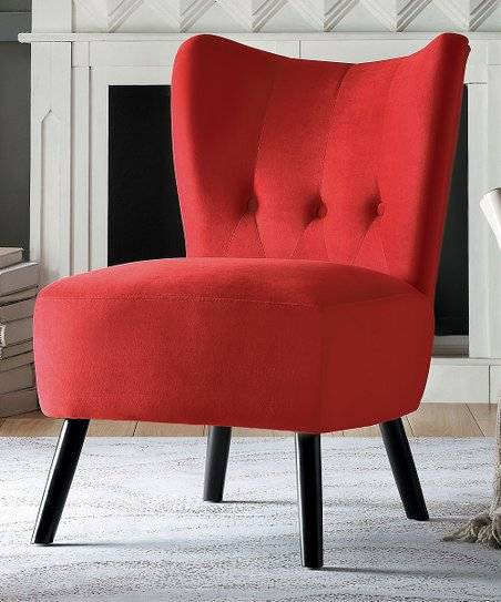 Sensational Lexicon Red Accent Chair Creativecarmelina Interior Chair Design Creativecarmelinacom