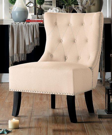 Awe Inspiring Lexicon Beige Nailhead Trim Accent Chair Creativecarmelina Interior Chair Design Creativecarmelinacom