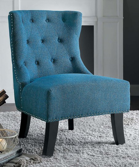 Strange Lexicon Blue Nailhead Trim Accent Chair Creativecarmelina Interior Chair Design Creativecarmelinacom