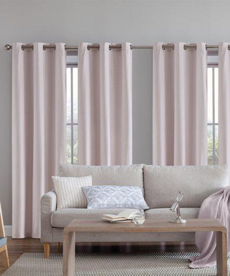 S.L. Home Fashions Blush Adelle Room-Darkening Curtain Panel - Set ...