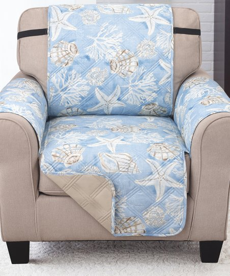 Excellent Couch Guard Blue Tan Key Largo Reversible Chair Protector Gmtry Best Dining Table And Chair Ideas Images Gmtryco