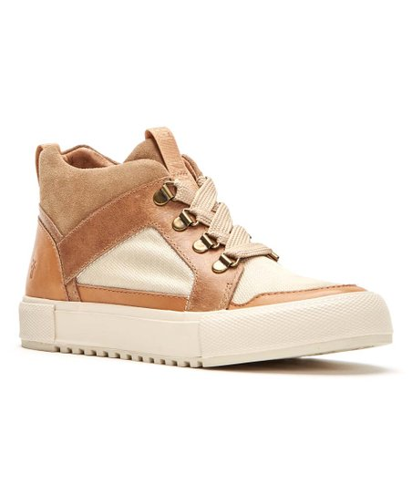 Frye Beige \u0026 Brown Gia Lug Leather