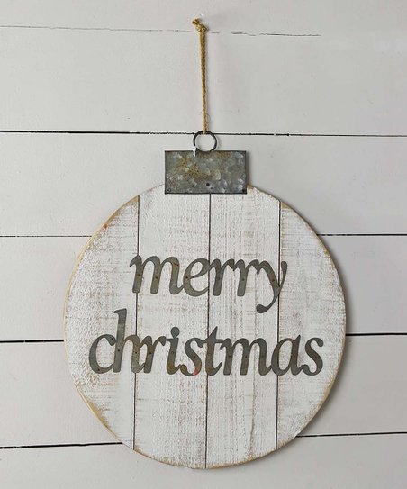 Merry Christmas Ornament Sign.White Merry Christmas Ornament Wood Wall Sign