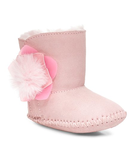 106e408b265e12 love this product Seashell Pink Cassie Cactus Flower Suede Infant Boot -  Girls