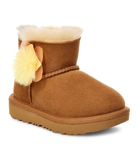 57cc8f703ad75e UGG® Chestnut Mini Bailey II Cactus Flower Suede Boot - Girls