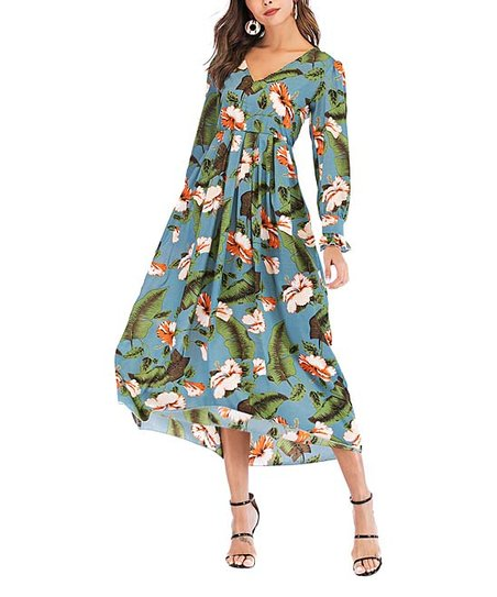 Flowing Tropical Dress
