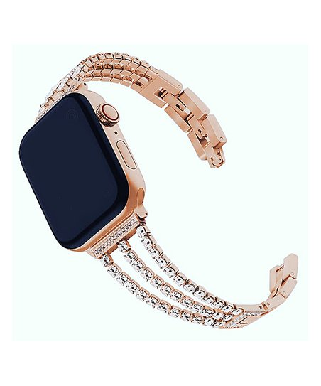 Tech Zebra Rose Gold Link Rhinestone Band For Apple Watch Best Price And Reviews Zulily