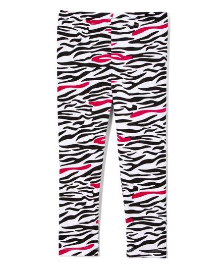 67b73a02e5db6 Sophie & Sam Pink Zebra Leggings - Infant, Toddler & Girls | Zulily