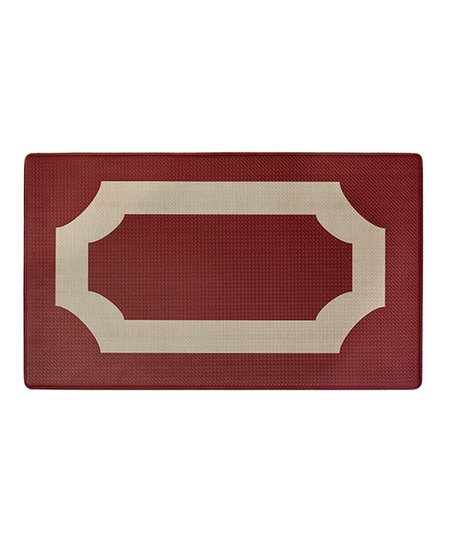 Goodgram Red Darcy Memory Foam Anti-Fatigue Kitchen Mats
