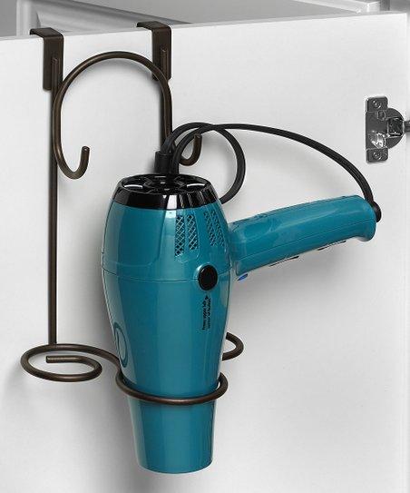 Peachy Spectrum Black Over The Cabinet Hair Dryer Holder Interior Design Ideas Ghosoteloinfo