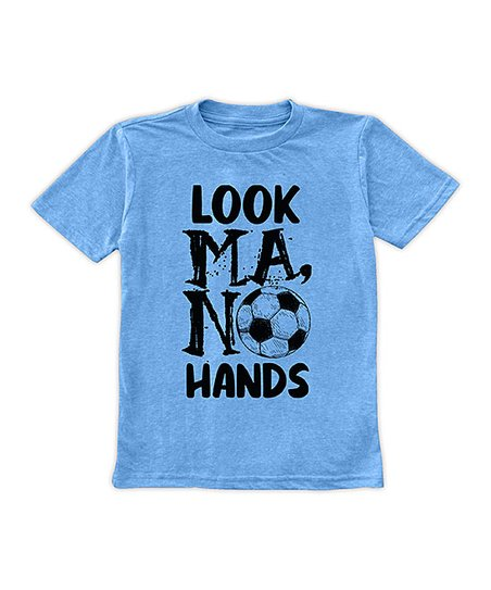 Heather Bright Blue Look Ma No Hands Soccer Tee Toddler Boys Zulily