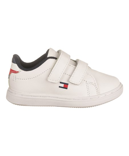3e5b4f2c Tommy Hilfiger White Iconic Court Hook & Loop Sneaker - Boys | Zulily