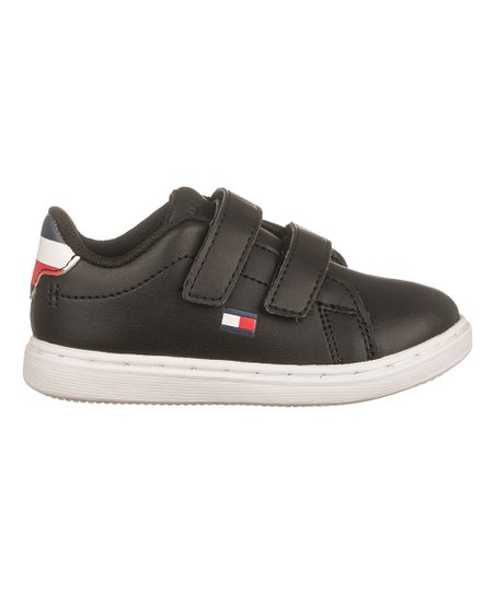 712bde2b Tommy Hilfiger Black Iconic Court Hook & Loop Sneaker - Boys | Zulily