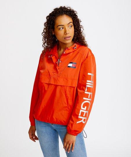ee3224d3 Tommy Hilfiger Orange Windbreaker - Women   Zulily